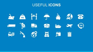 Editable Cargo And Supply Chain Flat PowerPoint Icons