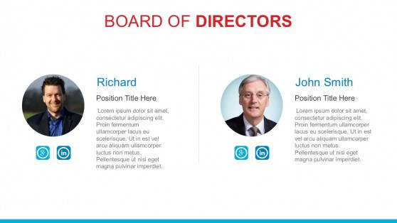 Company Board Of Directors PowerPoint Template