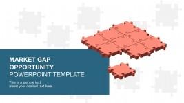 Market Gap Analysis Puzzle Templates PowerPoint