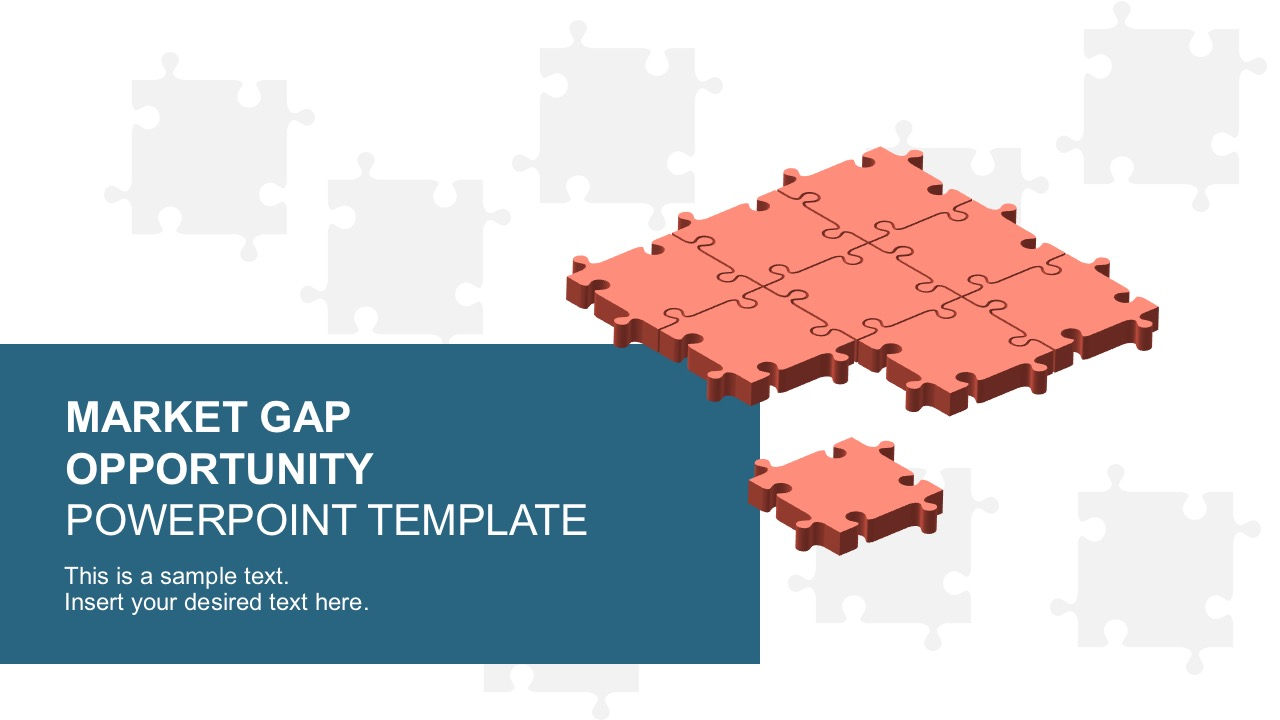 market gap analysis puzzle templates powerpoint - slidemodel, Presentation templates