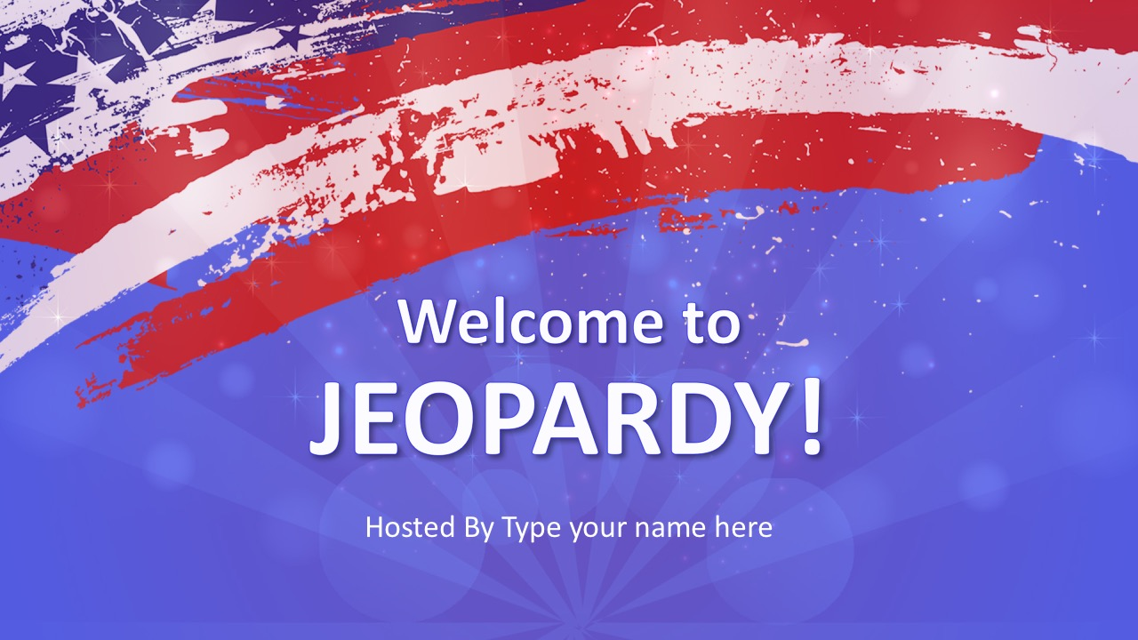 Jeopardy Game Show PowerPoint Template