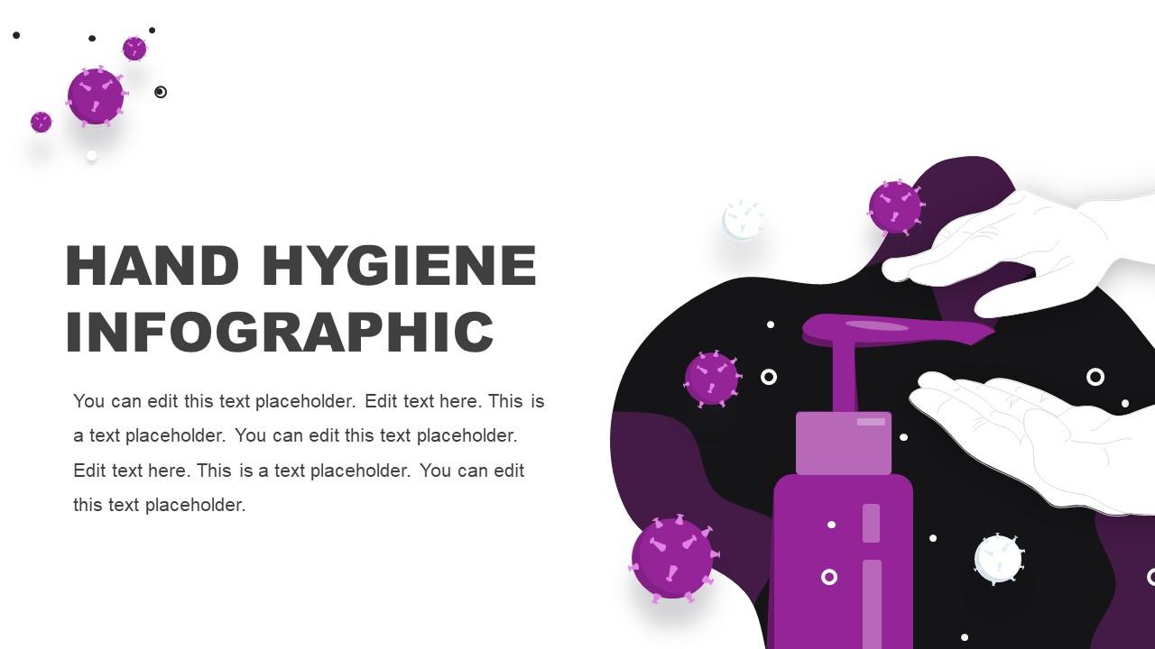 Virus Infographics for Hand Hygiene Sanitizer
