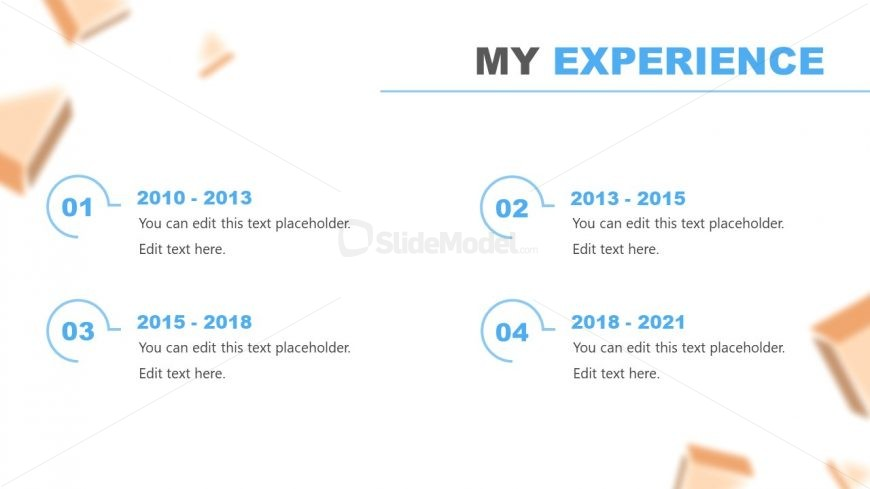 Slide of Experience in Resume PowerPoint Template
