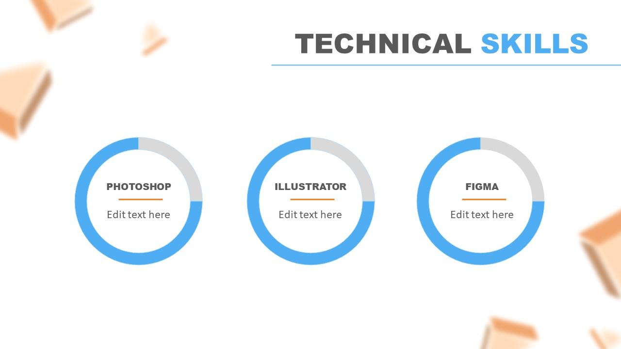 Slide of Skills in Resume PowerPoint Template
