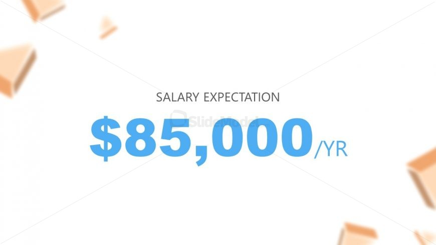 Slide of Salary in Resume PowerPoint Template