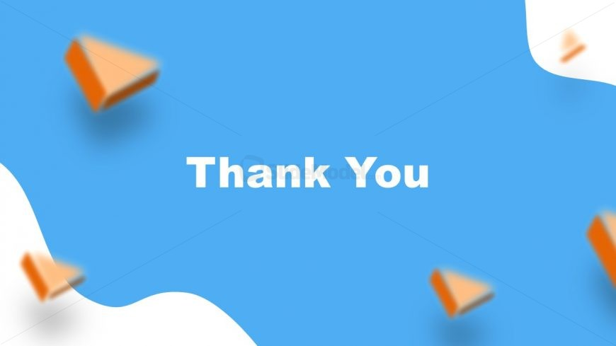 Slide of Thank You in Resume PowerPoint Template