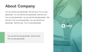Layout for Compay Introduction About Page