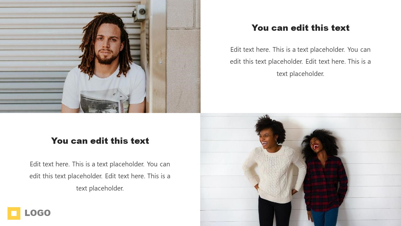 Picture and Text Placeholders PowerPoint