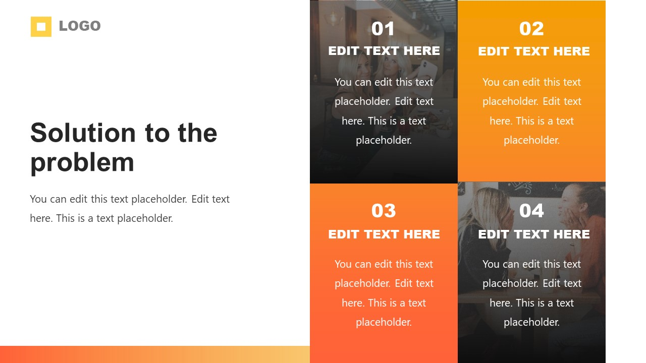 Orange Gradient Company Profile Theme