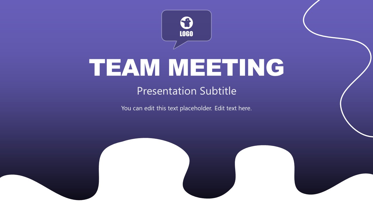 Cover of Team Meeting Presentation