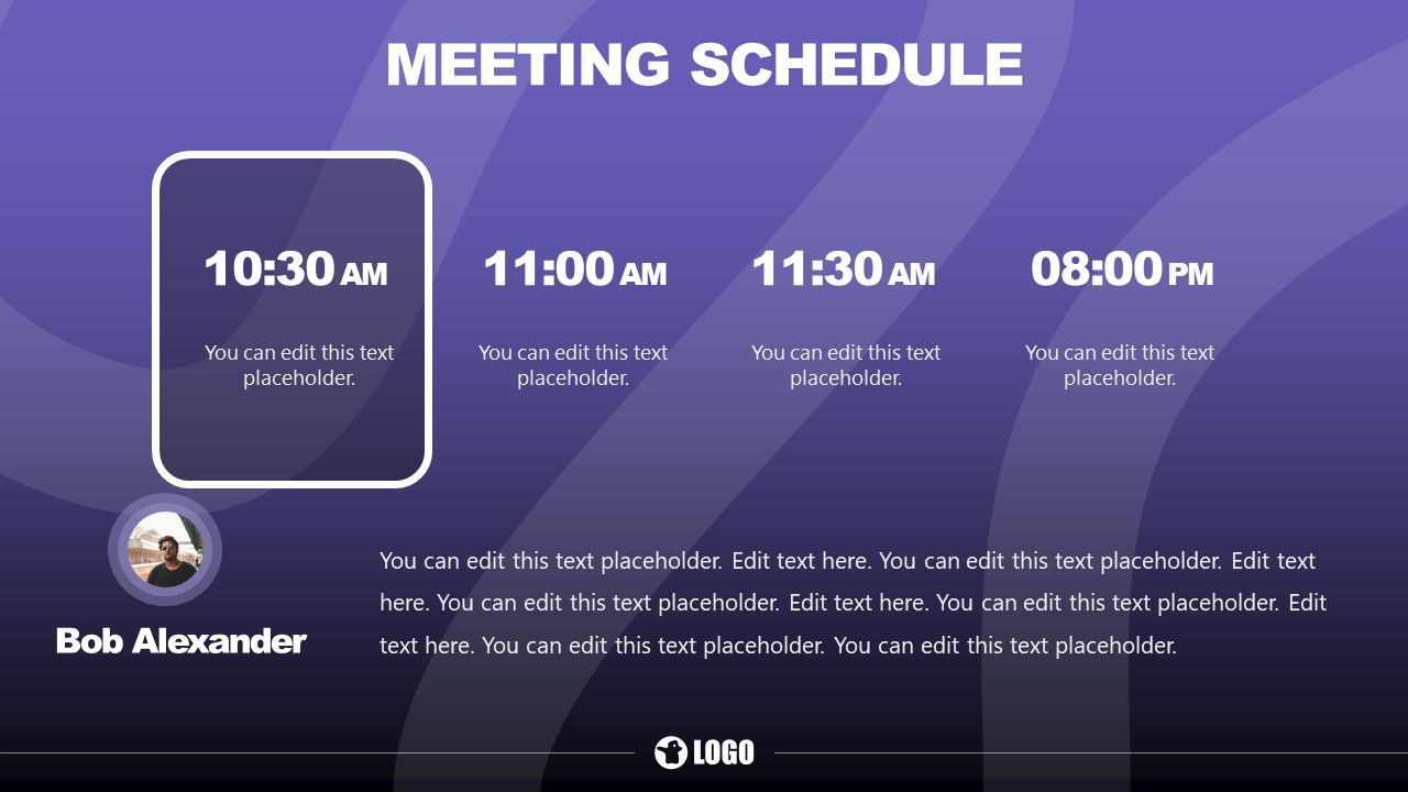 Slide of Schedule Planning for Meeting