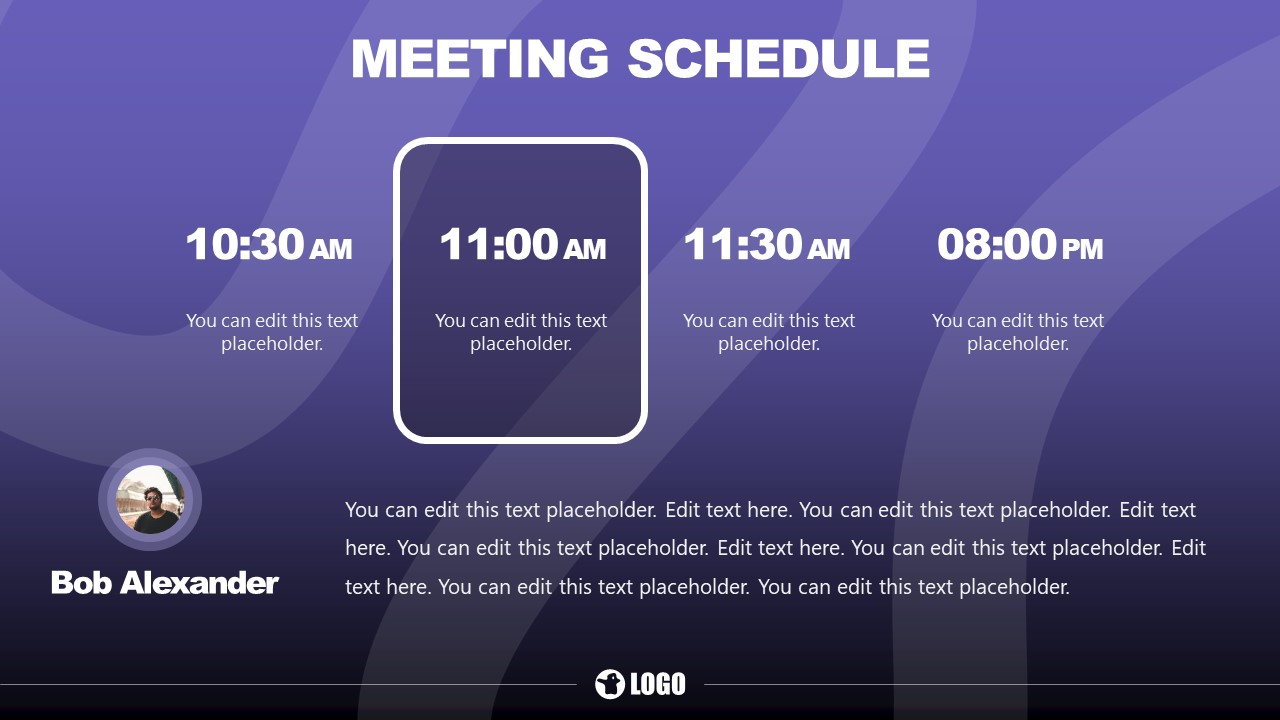 PowerPoint Template for Meeting Time