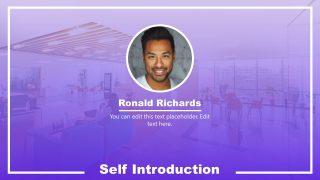 Presentation of Self Introduction Resume