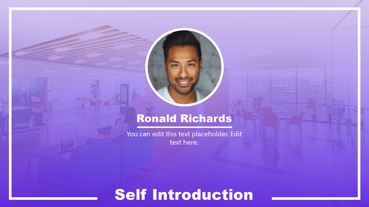 Presentation of Self Introduction Resume