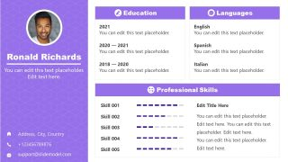 PowerPoint Template for Self Introduction