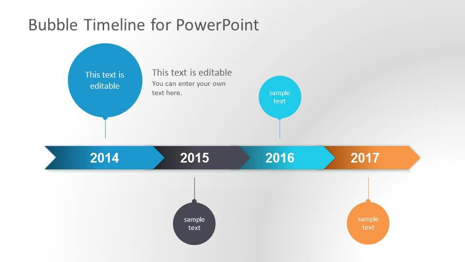 Bubble Timeline PowerPoint Template SlideModel - Timeline graphic template