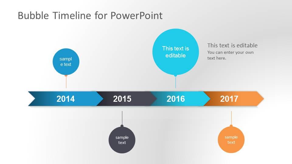 Bubble Timeline Design for PowerPoint