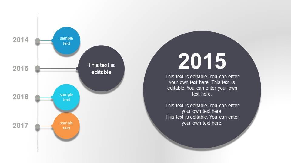 bubble timeline powerpoint template