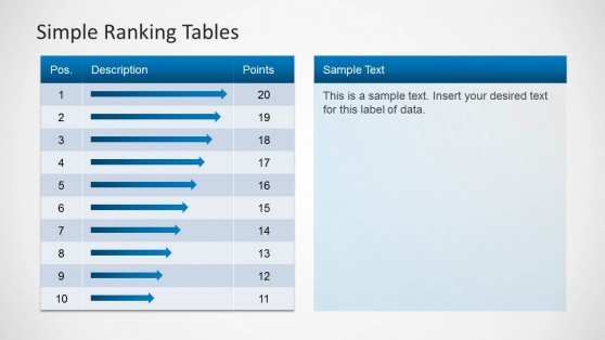 Two Tiles Ranking Tables Layout for PowerPoint