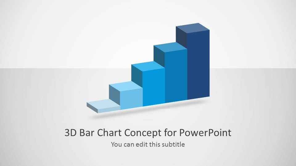 3D Chart Design Slide for PowerPoint