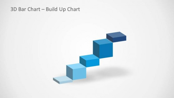 3D Build Up Chart Slide Design for PowerPoint