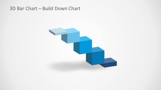3D Build Down Chart Slide Design for PowerPoint