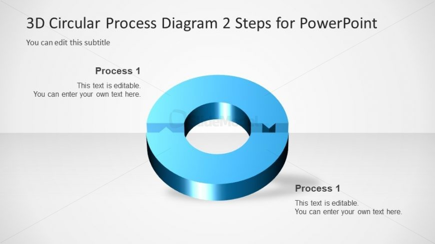 Diagram of 2 Steps Arrow PowerPoint