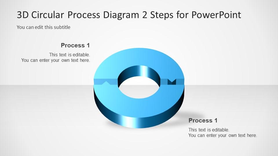 Diagram of 2 Steps Arrow PowerPoint