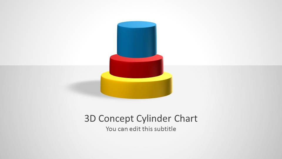 3d cylinder chart concept for powerpoint