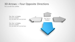4 Arrows for PowerPoint Slide Design