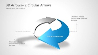 360 Arrows for PowerPoint - 2 Circular Arrows
