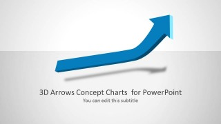 3D Arrow Slide Design with Uptrend Effect