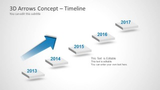 Steps Diagram with Timeline for PowerPoint