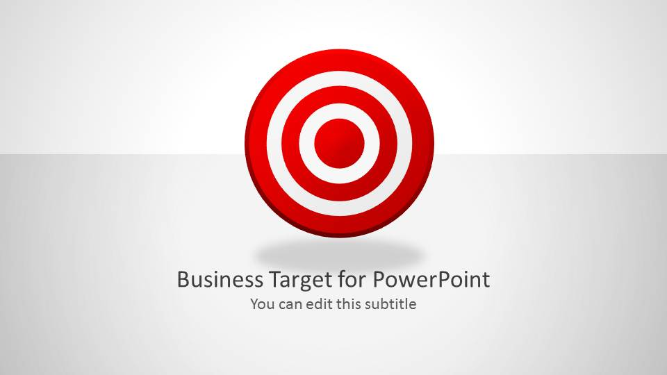 business target shapes for powerpoint - slidemodel, Modern powerpoint