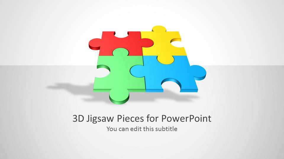 3d jigsaw piece shapes for powerpoint slidemodel 3d jigsaw piece shapes for powerpoint toneelgroepblik Gallery