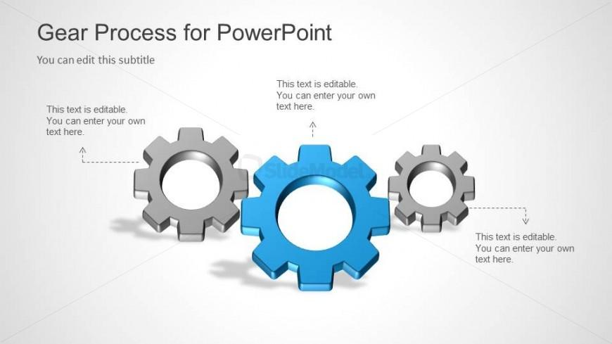 3 Gear Process Slide Design for PowerPoint