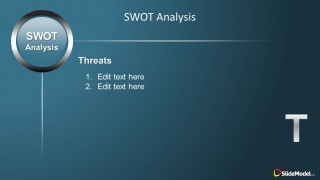 Threats Slide Design for SWOT PowerPoint Presentations