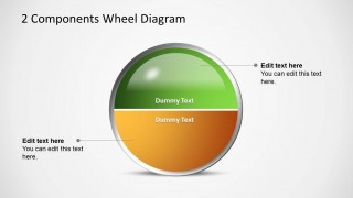 PowerPoint Template Circular Two Halfs Diagram
