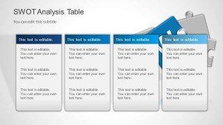 SWOT Analysis PowerPoint Template Is A Presentation Template For Microsoft  PowerPoint That You Can Use To Make A Presentation With A SWOT Analysis.  Microsoft Swot Analysis Template