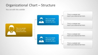 3 Level Org Chart Diagram for PowerPoint