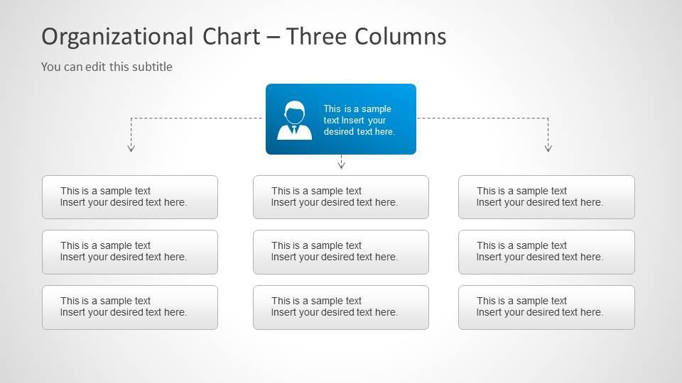 organizational chart slide design for powerpoint