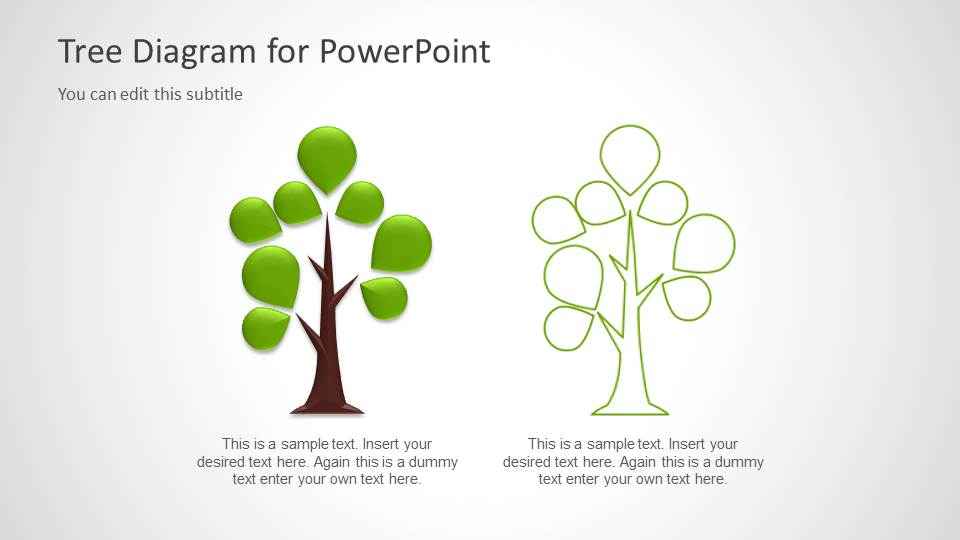 Tree diagram template for powerpoint slidemodel ccuart Choice Image
