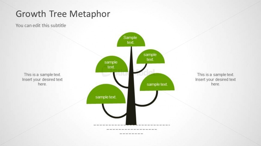 Tree Clipart for PowerPoint with Green Leaves