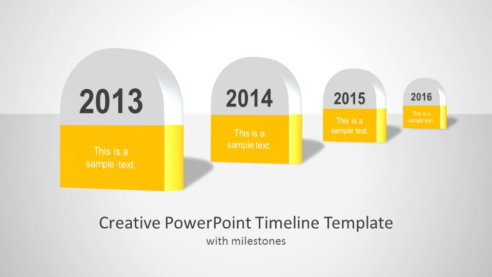 creative timeline template for powerpoint
