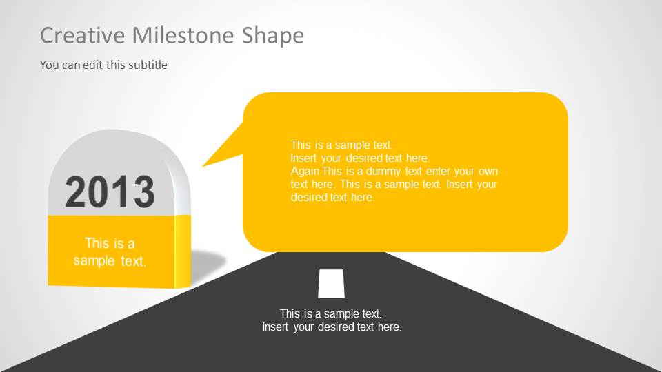 Creative timeline template for powerpoint slidemodel timeline milestones for powerpoint creative milestone for powerpoint toneelgroepblik Choice Image