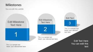 3 Milestones in a PowerPoint Slide Timeline