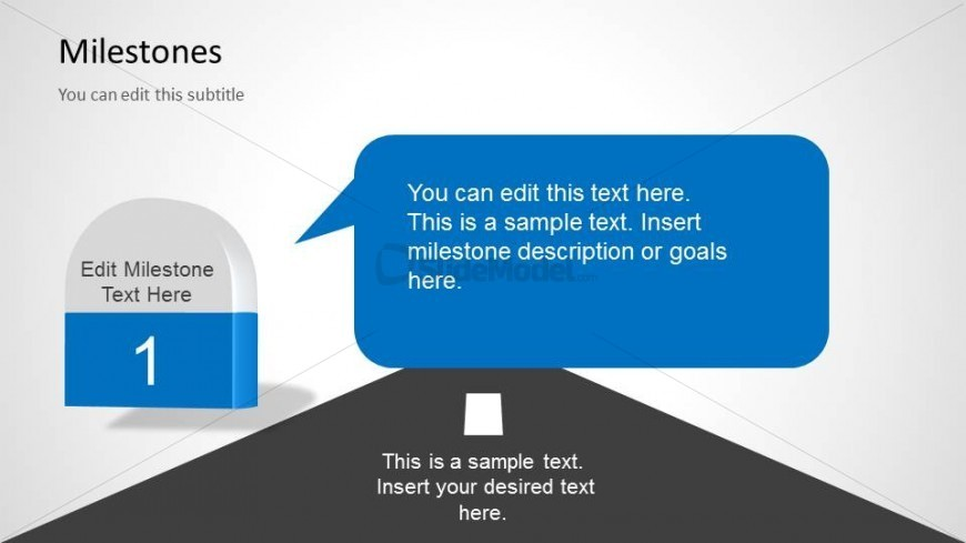 Milestone Description Slide Design for PowerPoint with Callout