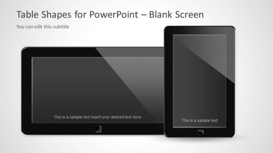 Blank Screen Tablets Slide Design for PowerPoint