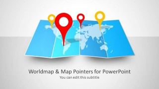 GPS Icon for PowerPoint with World Map Slide Design