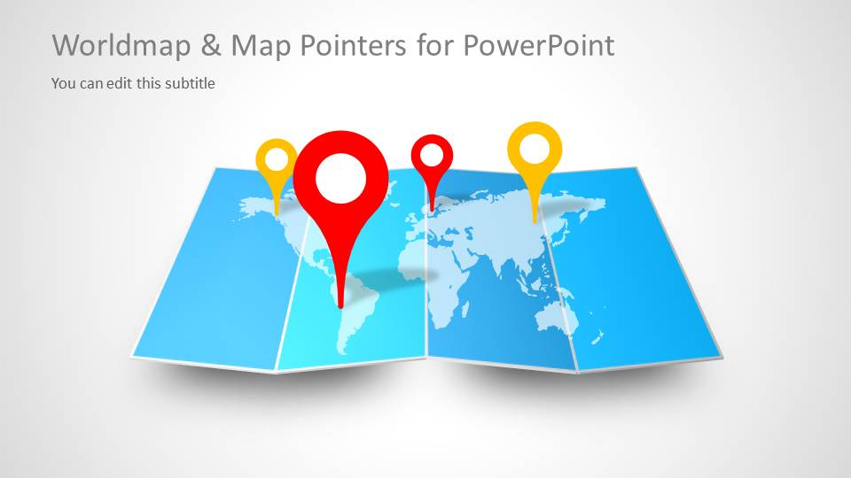 Map Pointer & World Map Vector for PowerPoint